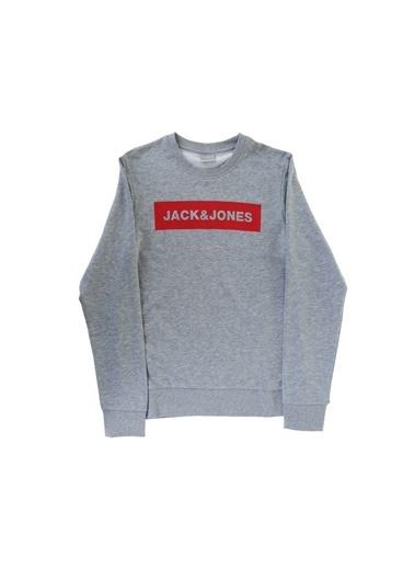 Jack & Jones Jack & Jones 12176083 Açık Gri Melanj Sweatshirt Gri